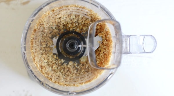 ground cracker crust in food processor