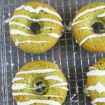 Gluten Free Matcha Green Tea Donuts with White Chocolate