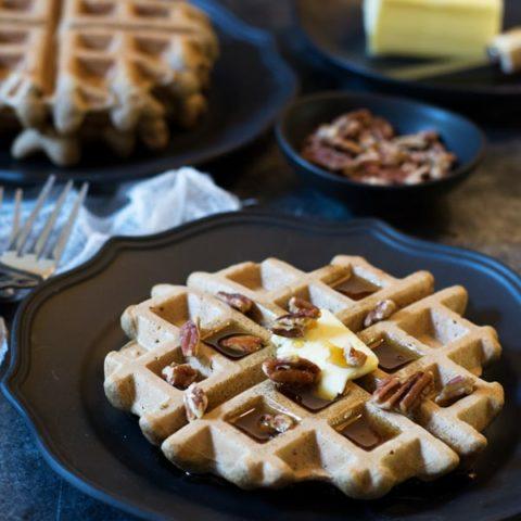 Paleo Banana Flour Waffles
