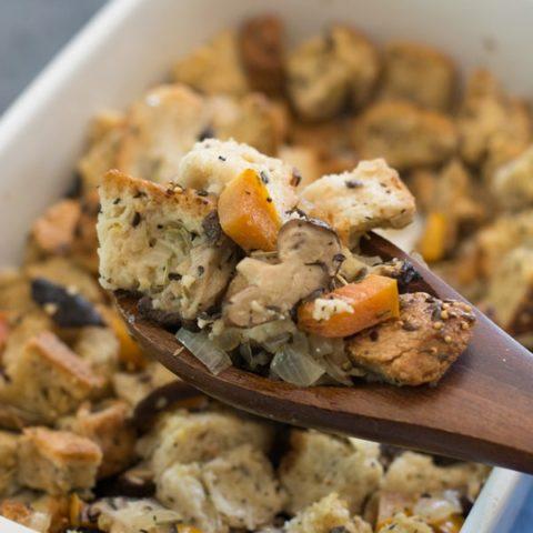 Gluten Free Mushroom Stuffing