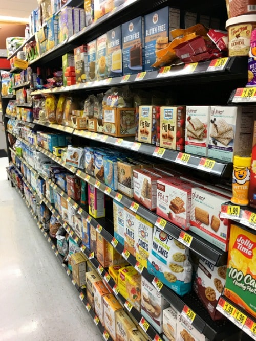 Gluten free Aisle at my local Walmart store