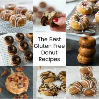 titled photo collage of the best gluten free donut recipes