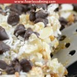 a pinterest collage photo pin of gingerbread 7 layer bars