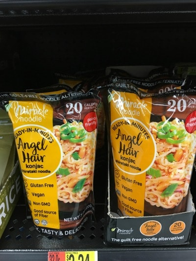 Packages of paleo noodles by Angel Hair.