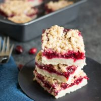 Gluten Free Cranberry Shortbread Bars