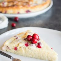 Gluten Free Cranberry Orange Yogurt Cake