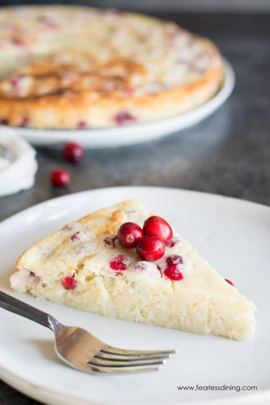 Gluten Free Cranberry Orange Yogurt Cake Recipe