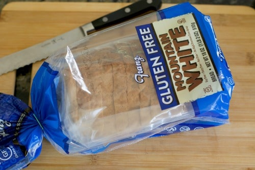 A loaf of Franz gluten free bread in the wrapper