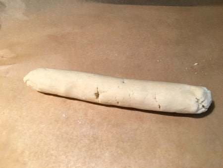 Dough rolled into long strands
