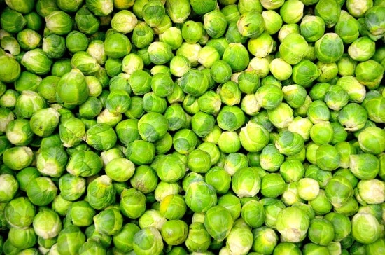 a ton of Brussels sprouts