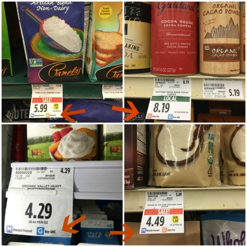 Raley's products with shelf labeling