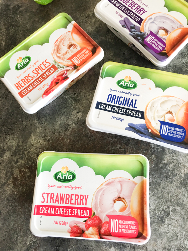 arla cream cheese flavors