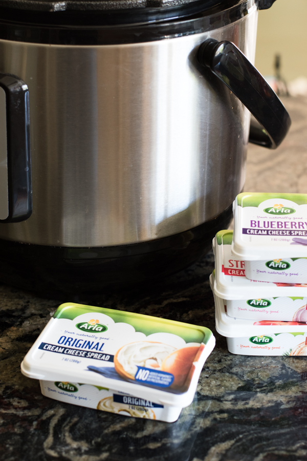 arla cream cheese next to the instant pot