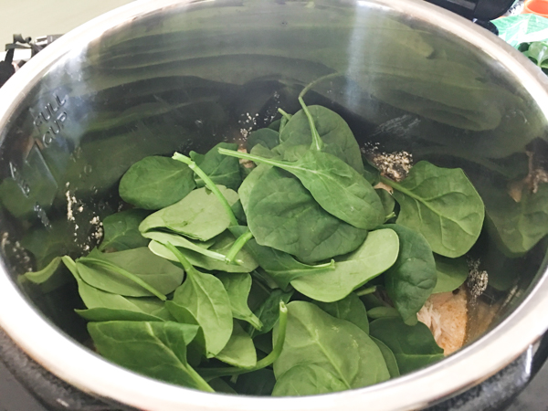 spinach in instant pot