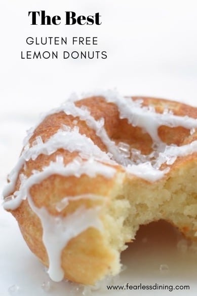 lemon donut with a bite taken out