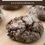 a pinterest collage of the crinkle cookies