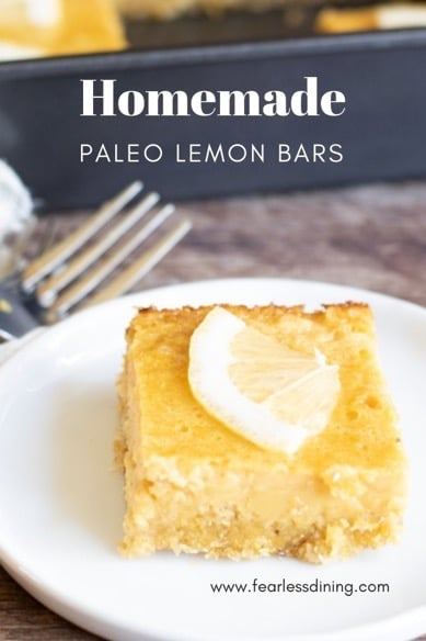 gluten free lemon bars pinterest collage
