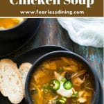 a pinterest pin of the soup image