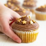 Easy Gluten Free Vanilla Cupcakes with Chocolate Frosting