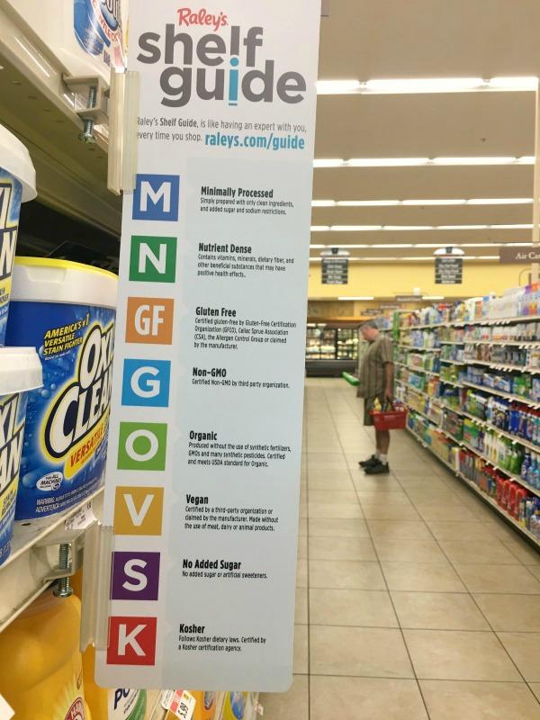 Raley's supermarket shelf guide sign