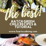 a pinterest collage of hatch chile photos