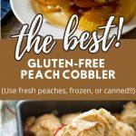peach cobbler pinterest collage photos