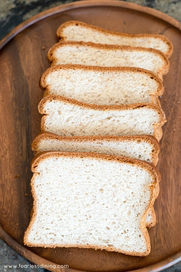 Slices of gluten free bread on a plate