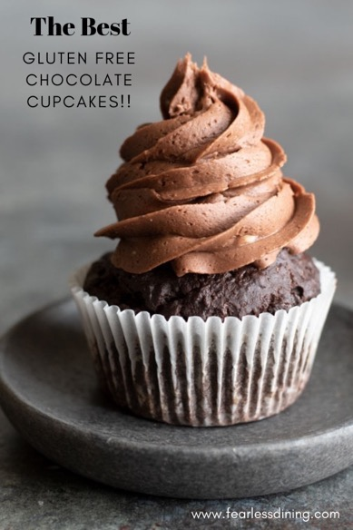 gluten free chocolate cupcakes pinterest collage