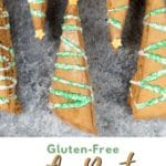 a pinterest collage of the gingerbread biscotti