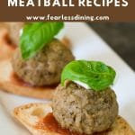 a collage of meatballs for pinterest