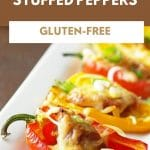 sausage stuffed peppers pinterest collage photo