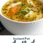 a pinterest collage of a bowl of soup