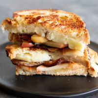 Gluten Free Grilled Cheese with Brie, Apples, and Bacon