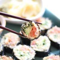 Cauliflower Rice Spicy Tuna Rolls