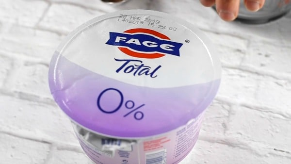 FAGE yogurt in a container