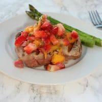 Grilled Tuna Steaks With Strawberry Mango Salsa