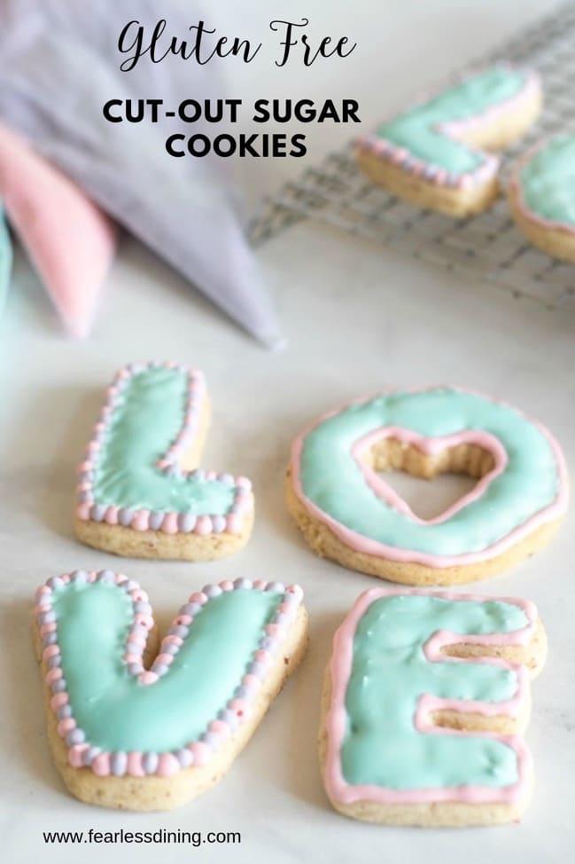 gluten free cut out sugar cookie pinterest collage
