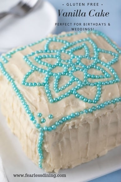gluten free vanilla cake collage for Pinning