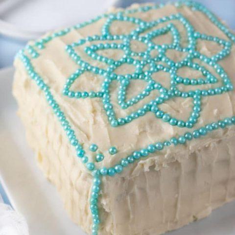 Gluten Free Vanilla Cake with Cream Cheese Frosting