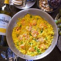 Quick Saffron, Shrimp and Asparagus Risotto