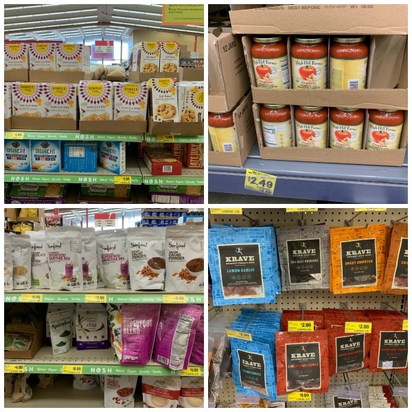 organic snacks and deals on the shelves at Grocery Outlet