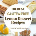 a pinterest collage of four lemon dessert photos