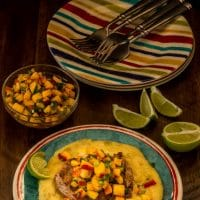 Grilled Pork Chops With Hatch Green Chile Polenta