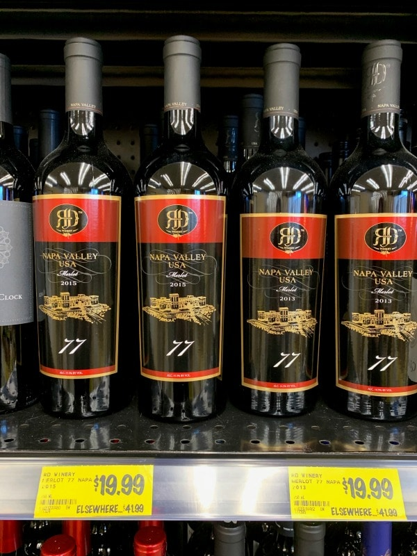 wines on sale at Grocery Outlet