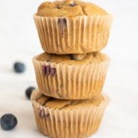 Light and Fluffy Gluten  Free Blueberry Protein Muffins