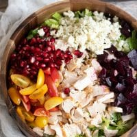 Easy Lunch Time Chicken Chopped Salad