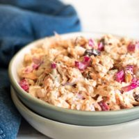 Easy Rainbow Swiss Chard Curried Tuna Salad