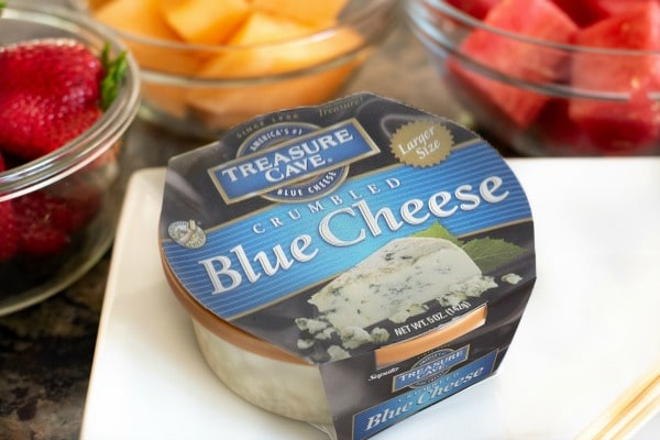 horizontal blue cheese shot