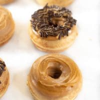 Easy Gluten Free Peanut Butter Donuts {Baked Not Fried}