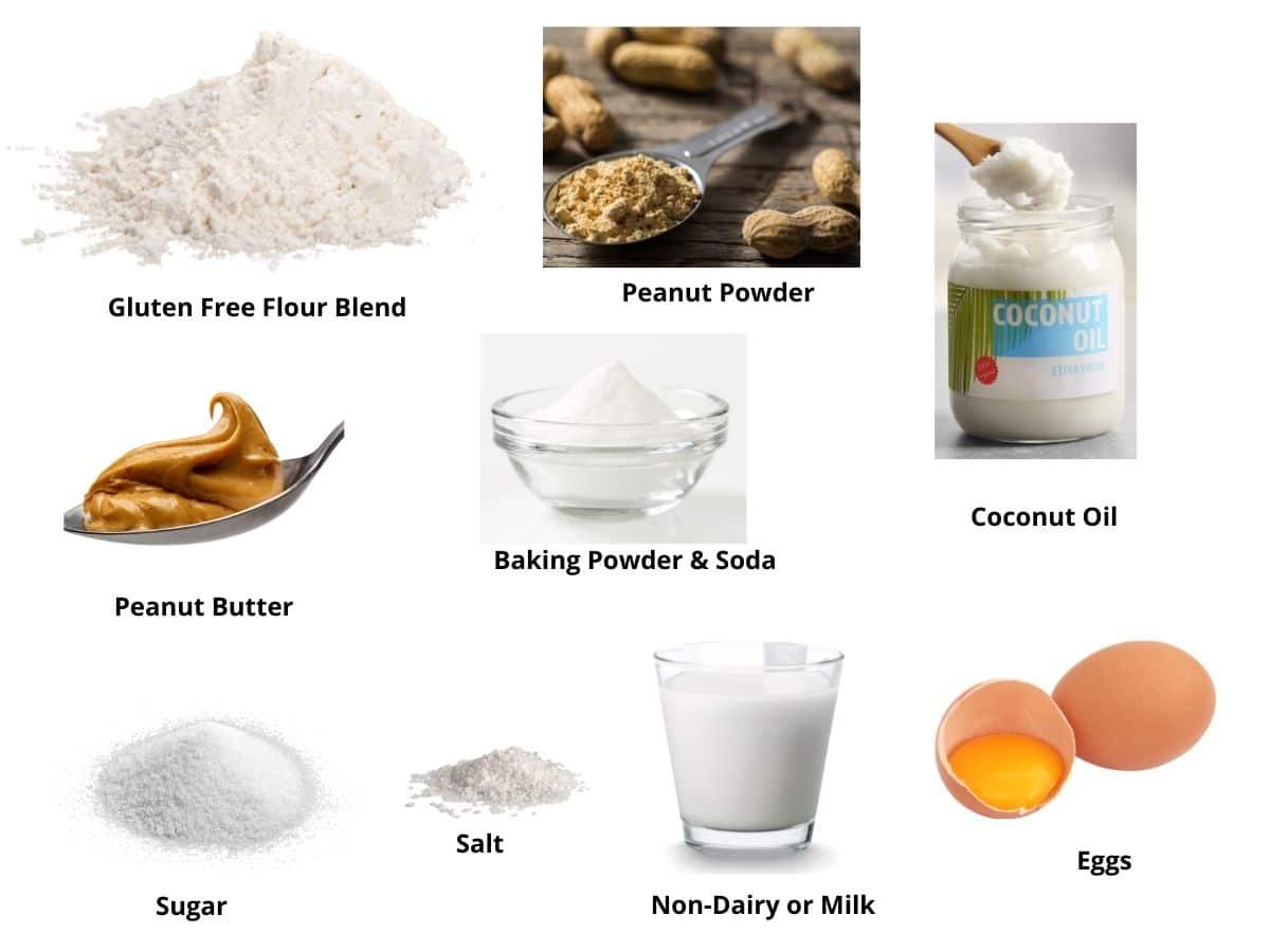 peanut butter donut ingredient